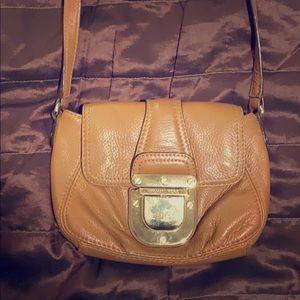 MK Caramel leather crossbody